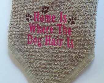 Dog Wash cloth, Handmade,Embroiderd,100% cotton, Whisker Washer #WW112