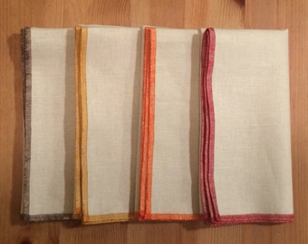 "13"" or 17"" Holiday Linen Napkins, Set of 12"