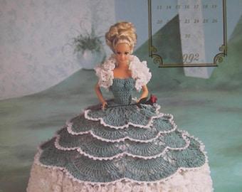 Annie's Attic Crochet Bed Doll Pattern September 1992 Cotillion Barbie Doll Dress Original pattern