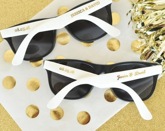 100 Personalized Sunglasses Custom Sunglasses Sunglass Favors, Destination Beach Wedding Favors SET of 24