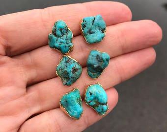 Raw Turquoise Studs