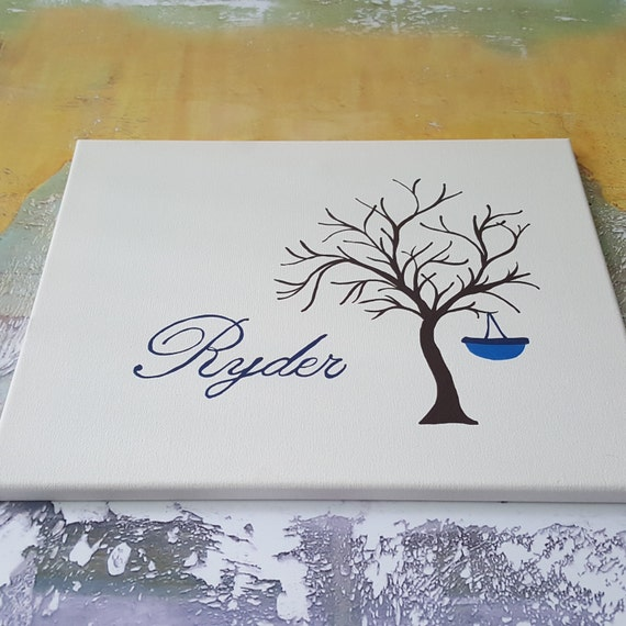 Finger print tree canvas Baby finger print tree guestbook alternative fingerprint stamp tree wedding shower fingerprint tree