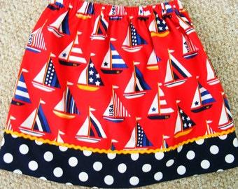 Sail Away  skirt (18 mos, 2T, 3T, 4T, 5, 6)