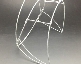 Vintage Wire Millinery Frame Skeleton Foundation Headpiece