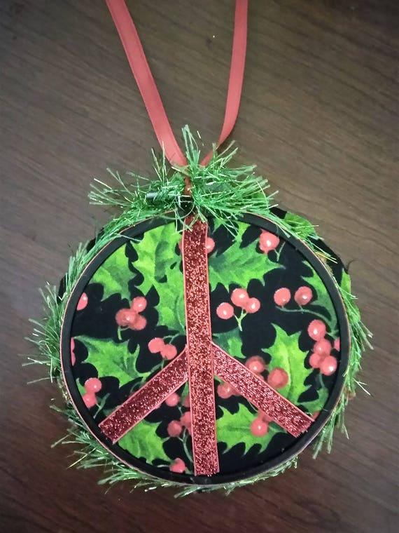 Christmas Tree Peace Sign Ornament