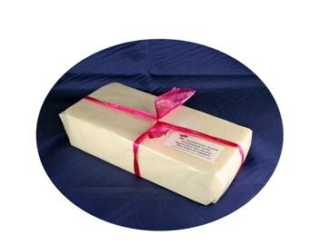 Oakmoss Sandalwood Soap Loaf One Pound Shea Butter Goatmilk Mango Butter Coconut Oil by Toadstool Soaps
