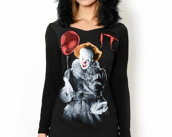 Horror It Pennywise Faux Fur Hoodie Dress