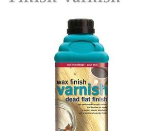 Polyvine wax finish varnish dead flat finish 500 ml/17.6 oz.