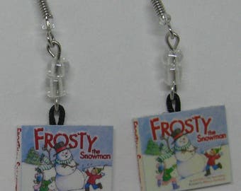 Frosty Mini Book Earrings E263