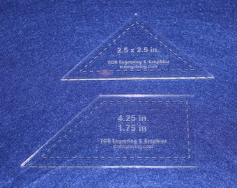 "2 Piece Whirlwind Set-- 1/8"" Clear Acrylic - Quilting Templates-"