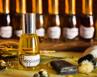 Happiness Mood Perfume Oil • Roll On • Aromatherapy Perfume • Orange Vanilla Sweet Fragrance • Gift for Her •  Gift for Him