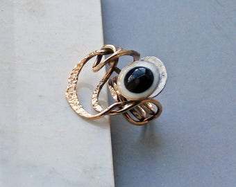 nugold ring with onyx