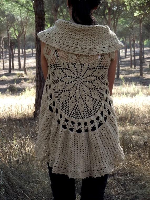 Crochet Circular Vest Pattern Pdf Instant Download Mandala