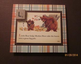 Little Bear - Raking Leaves Card