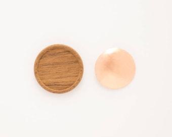 Wooden Brooch Base - Circle, Small