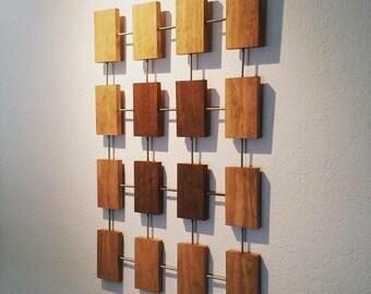 Jackson Wall Sculpture, Wood Wall Art, Mid-Century Modern, Pollock, Retro, Contemporary, Minimal, Art Objects