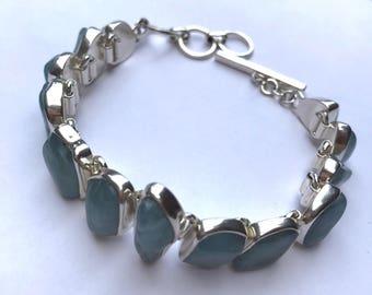 Tumbled Aquamarine Bracelet