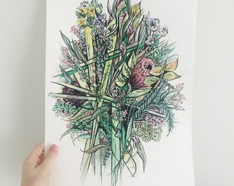 Mother's Day Bouquet Illustrations- get her an arrangement that will last forever!!