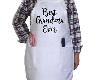 Best Grandma Ever Apron. Grandma Gift. Grandmother Apron.