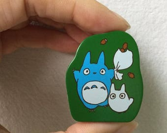 Totoro Stamp - Wooden Rubber Stamp - Chestnuts
