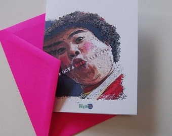 Wacky funky, unusual, original one of a kind greeting cards make the perfect keep in touch idea