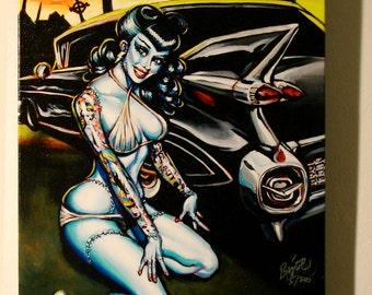 BigToe Graveyard Girlfriend Limited Edition Archvial Canvas Art Print, item 157