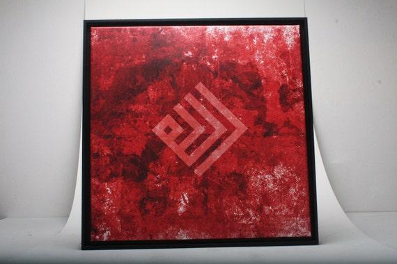 Gift framed canvas wall art modern arabic kufic calligraphy