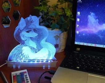Princess Celestia My Little Pony acrylic night light