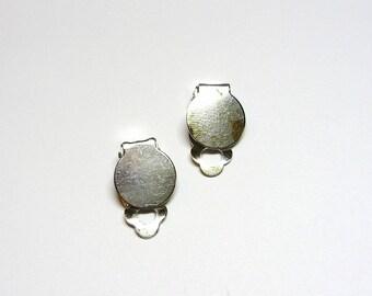 Silver clip earrings 1 pair
