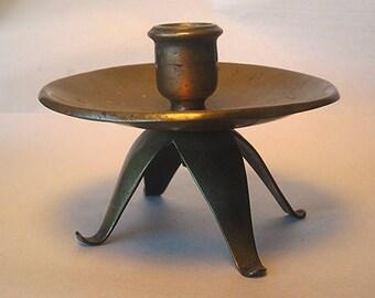 An Early Handmade Brass Candlestand Z25