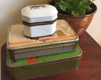 Two vintage tin boxes