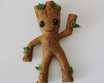 Baby Groot Plush Guardians of the Galaxy Inspired Felt Plush