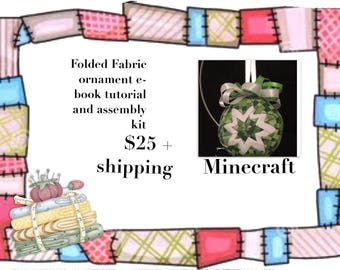 Minecraft Ornament making kit and tutorial