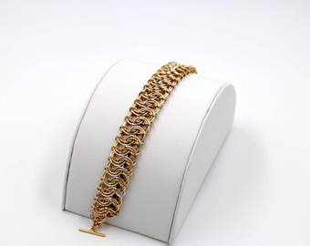 Silver and 14k Gold Fill Garter Bracelet