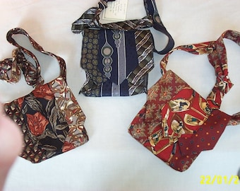 Vintage neck tie Evening Bags -