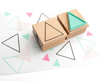 Triangle rubber stampk, triangle outline stamp, triangle ink stamp, outline triangle stamp, geometric stamps, geometric triangle stamp