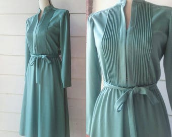 Vintage 60s Minty Turquoise Belted Dress