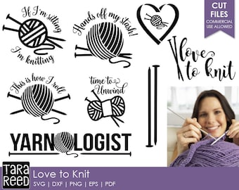 Knitting svg files / knitting files for Cricut  / knitting files for Silhouette / gifts for knitters / knitting / Commercial Use Allowed