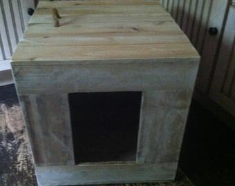 Animal House, Rustic Animl House, Rustic Cat House, Rustic Dog House, Rustic Cat Litter Box, Primitive Cat House, Primitve Dog House