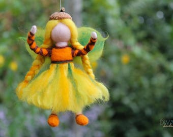 Autumn  Fairy  - Needle Felted Fairy - Wool Fairy- Needle Felted Doll - Waldorf Doll - Waldorf inspired- Autumn Decoration - 100% Pure Wool