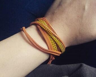Orange bracelet woman