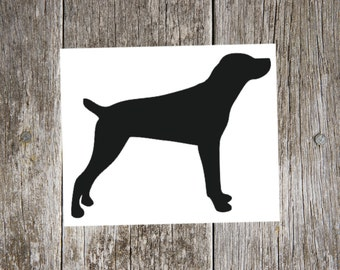 Mountain Cur Dog Breed Silhouette Custom Vinyl Decal Sticker - Choose your Color and Size