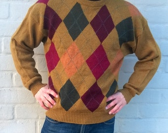 Vintage wool sweater, vintage pullover, mens sweater, wool jumper, winter sweater, women sweater, highlanders sweater, men M / women L (TW3)