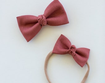 Headbands and Bows- The Ruby Sister Collection | Della Bow and Headband