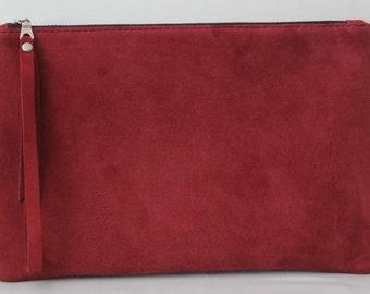 Kastanienbraun Clutch Tasche, Armband