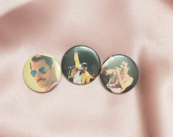 """Freddie Mercury 1"""" Buttons - Pack of 3"""