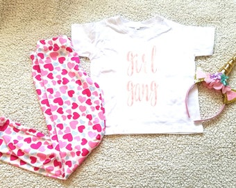 Girl gang graphic children's Tshirt. Sizes 2T, 3t, 4t, 5/6T funny graphic kids shirt gift, toddler girl clothing, kids girls