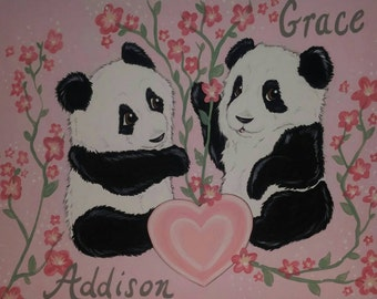CUSTOM Kid's Room Painting - Original 16x20, Nursery Decor Wall art