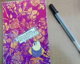 Notebook colorbook diary art journal bullet journal - Bird