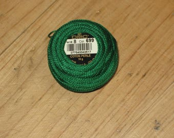 cotton Pearl 8, 10g 699 green colors